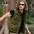 New casual Men's male fashion Military army Work clothes photography vest bag Multi-function vest free shipping