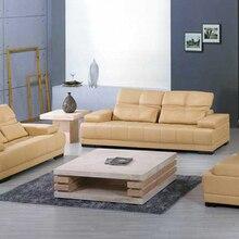 7189a9a56 Frete Grátis sofá de couro Amarelo 2013 Nova Design Clássico 1 2 3 Tamanho  Grande sofá