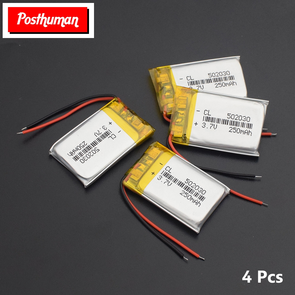 502030 3.7V 250mAh Li-ion Battery Lipo Cells Lithium Li-Po Polymer Rechargeable Battery For MP3 MP4 Speaker Tachograph Car DVR