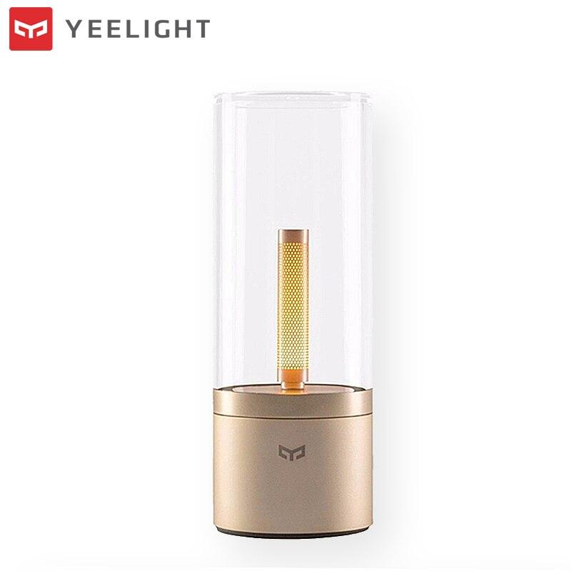 Оригинальный XIAOMI YEELIGHT 6,5 Вт светодио дный светодиодный ночник Smart Bluetooth управление перезаряжаемые затемнения настольная лампа Mijia свеча све...