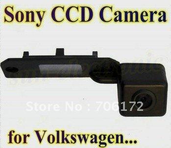 Sony ccd especial del coche de visión trasera inversa cámara de visión trasera de copia de seguridad de marcha atrás para vw caddy/passat/jatta/golf/touran/skoda superb