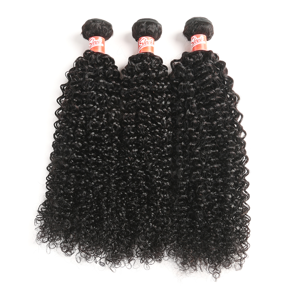 Sleek Brazilian Curly Bundles With Closure 4 Pcs Natural Color Hair Weave Non Remy Human Hair 3 Bundles With Closure Free Ship