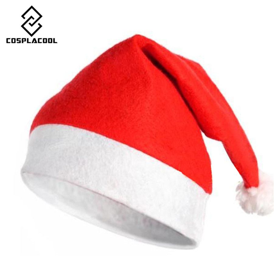 [COSPLACOOL] 5 pieces/lot Classic Christmas Hat Santa Claus Hat Adult Christmas Decorations Holiday Party Supplies Hats