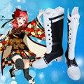 Amor En Vivo! Maki Nishikino Taisho Despertar Kimono Cosplay Zapatos Botas