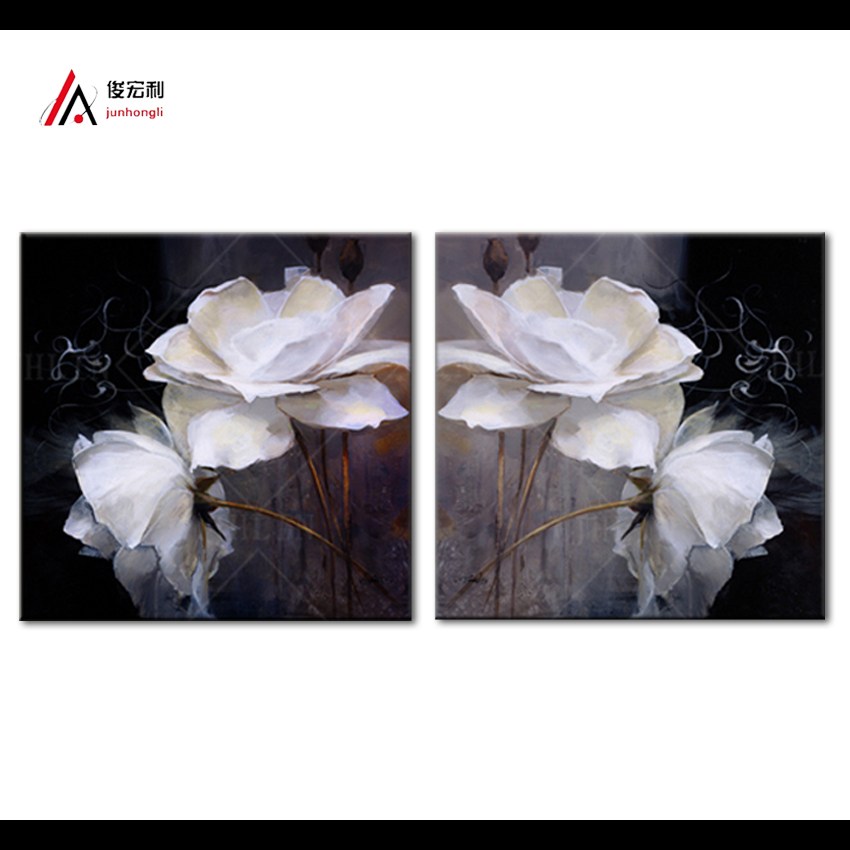 Modern white lotus definition home decoration paintings on canvas Print fabric Home Decor pictures living room modular painting