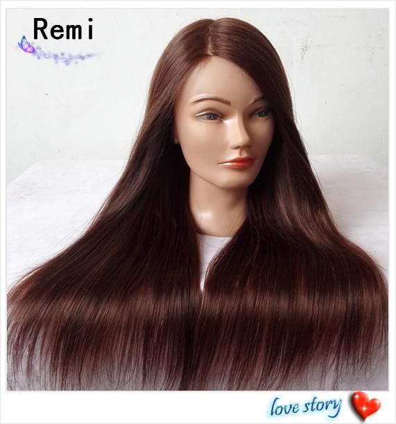 Online 65cm Mannequin Head Maniqui 80 Human Hair Dummy Training Cosmetology Heads Manikin Styling Mannequins Aliexpress
