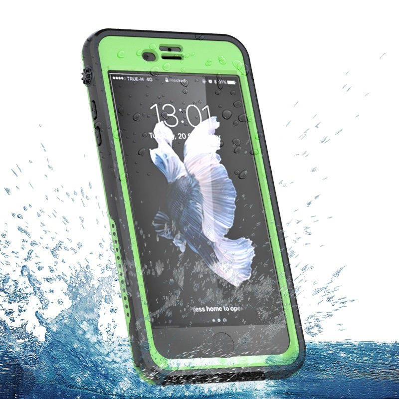 100 Completely Sealed Waterproof Phone PC Hard Case Protective Cover Water Resistant For iPhone 7 Plus
