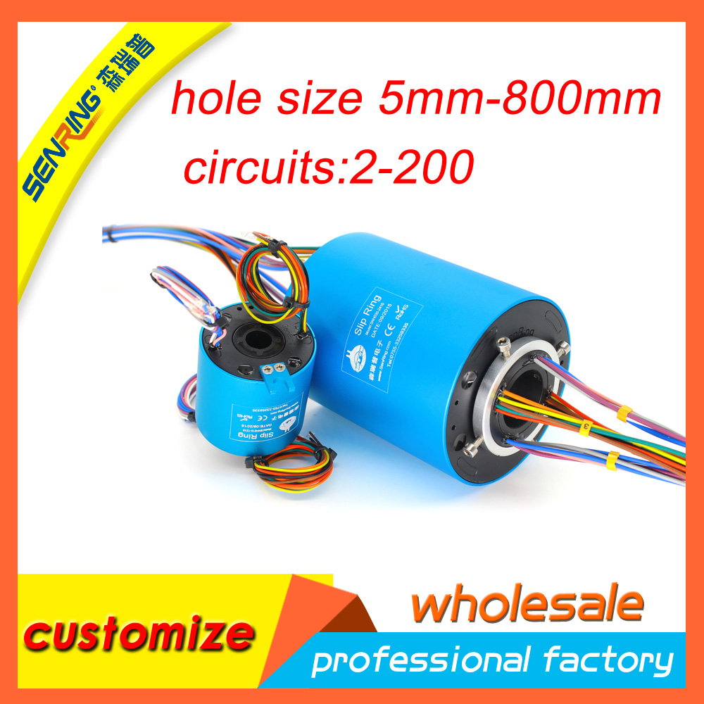 Slip ring for 6 wires 10A with bore size 35mm through hole slip ring hole hole live through this