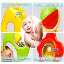 Купить с кэшбэком 6pc/sets New Baby toys Kids Rattle Toddler Music Toy Plastic Hand Jingle Shaking Bell high quality free shipping