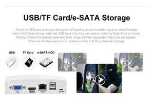 Image 5 - Сетевой видеорегистратор USAFEQLO, 8 каналов, 16 каналов, для IP камер H.265 1080P/5 Мп Onvif, Cloud P2P,eSATA/TF/USB, дистанционное управление