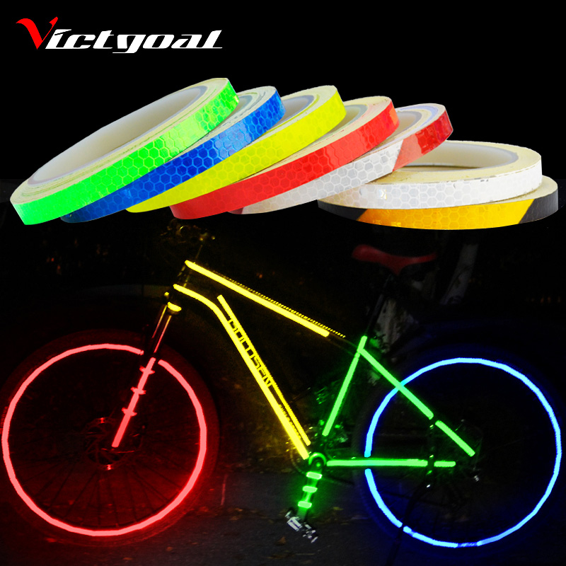 VICTGOAL Bike Stickers Decals Reflective Stickers Strip Bicycle Reflective Tape Sticker Bicycle Wheel Bike Bicycle Accessories 12pcs bicycle bike wheel rim spoke clip tube strip reflector reflective new