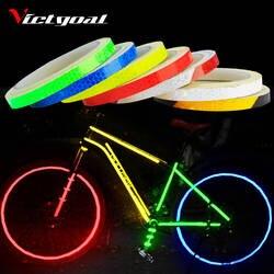 Для велосипеда victgoal Стикеры s отличительные светоотражающие наклейки полосы велосипеда отражательная клеящаяся лента колеса велосипеда