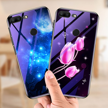 Honor 9  5.15 Tempered Glass Phone Case For Huawei Lite 5.65 Cases Plating Blue Light Luxury Cover Fundas Capa