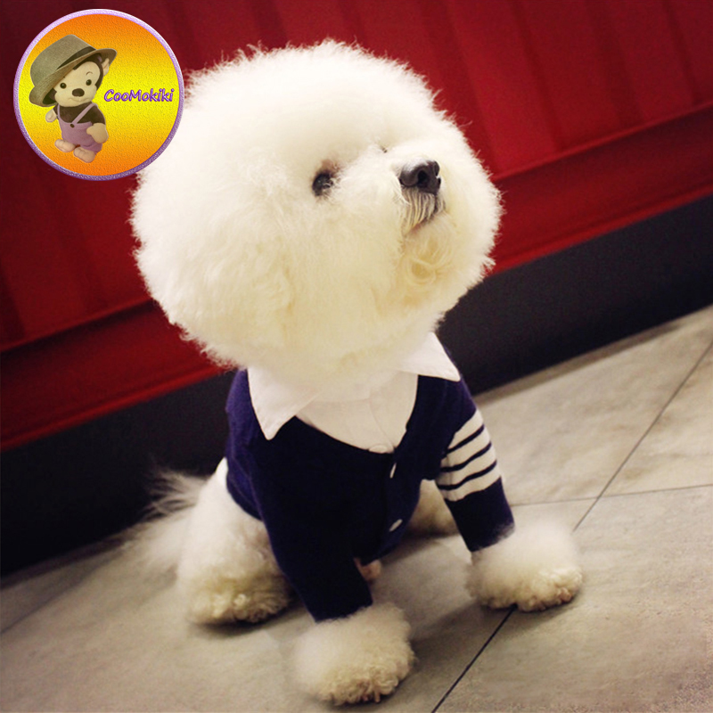 Two colors XS-XXL England Style gentleman Puppy sweater Uniform Suit Dog Dogs Clothes pets clothing Pet dog shirt cat shirts