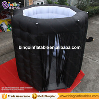 Customized diamond shaped 2.4X2.4X2.4 Meters white interior black exterior inflatable photo booth for wedding party toy tent