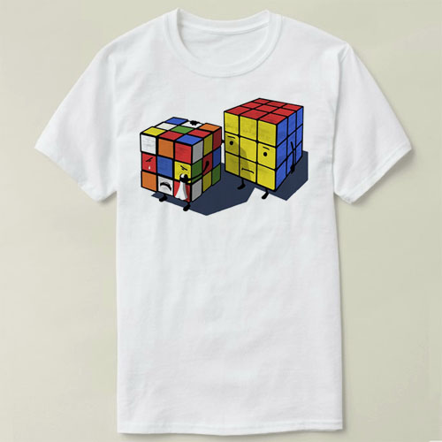Spirited Rubiks Cube Emotional Cubes Mens T-shirt Tops Tees Fitness Hip Hop Men Tshirts Clothing Super Big Size Zl Providing Amenities For The People; Making Life Easier For The Population T-shirts