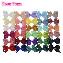 (40pcs/lot) 3inch 30 Colors Boutique Hair Bows With Clip Ribbon Bows Hairpins Hair Clips For  Girls Kids Hair Accessories
