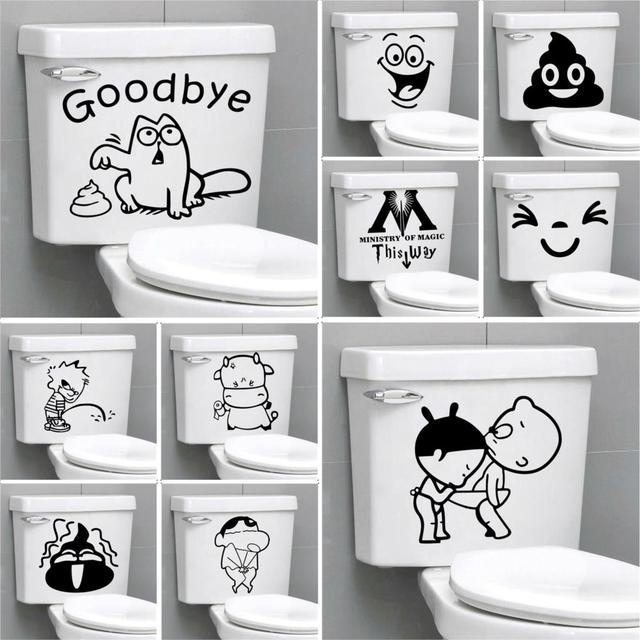 Funny Bathroom Toilet Stickers