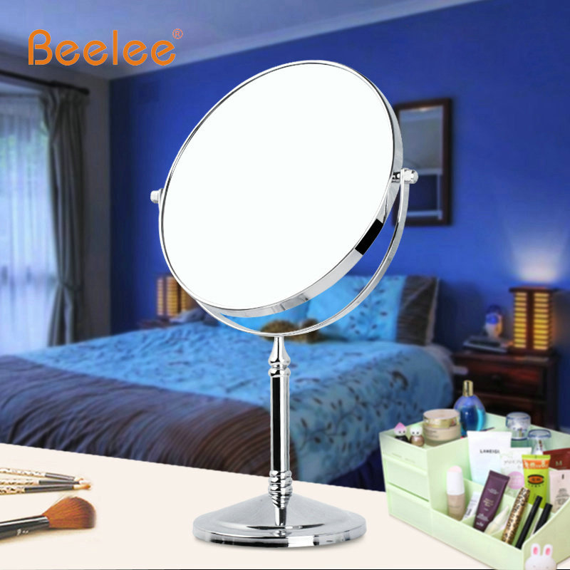 Beelee makeup mirror spejo de maquillaje Double-sided desktop 6/8inch 3x 5x 7x 10x magnifying mirror 7080J Chrome Dropshipping