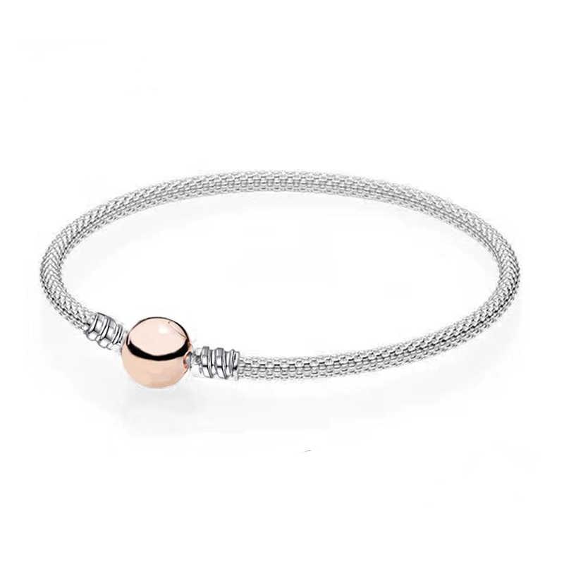 DINGLLY, высокое качество, золотой серебряный браслет, браслет, подходит для оригинальных бусин, браслеты-шармы для женщин, мужчин, детей, влюбленных, пары, подарки