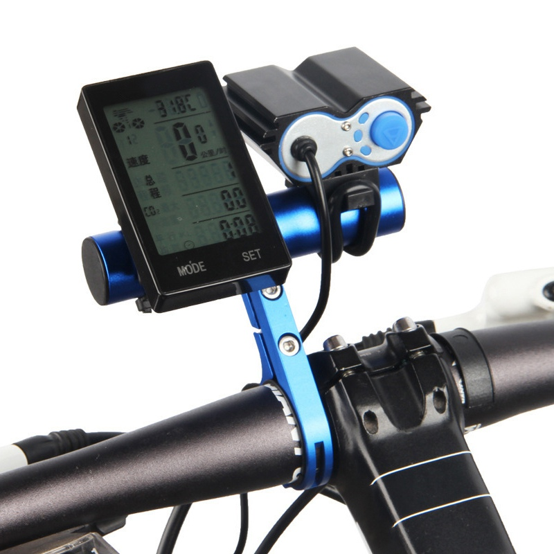 10CM Bicycle Handlebar Extended Bracket Headlight Mount Bar MTB Bike Cycling Lantern Lamp Support Rack Stand Flashlight Holder in Bicycle Handlebar from Sports Entertainment