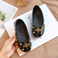 Girl shoes lovely pearl Leather 3 color Shoes Anti Slip Sneakers Soft Sole toddler shoes drop ship