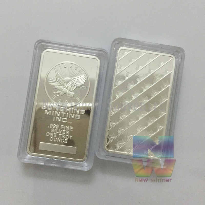 1pcs/lot Sunshine Mint Eagle Silver Bars One Troy Ounce .999 Silver Plated Bar Free Shipping1pcs/lot Sunshine Mint Eagle Silver Bars One Troy Ounce .999 Silver Plated Bar Free Shipping