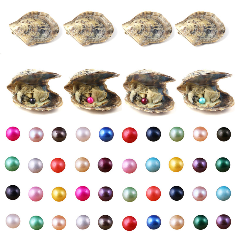 Akoya Oyster avec 6-8 mm Round Pearl