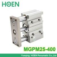 MGPM серия mgpl MGPM25 400 диаметр 25 мм ход 400 мм Три вала вращающийся цилиндр воздуха с Направляющая штанга MGPM25 * 400