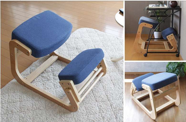 Wood Knee Chair ~ Modern office chair for posture wood knee
