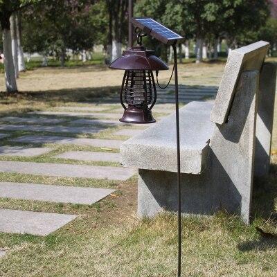 LED à alimentation solaire moustique tueur lampe répulsif Charge jardin extérieur électronique moustique insecte tueur étanche Bug Zapper