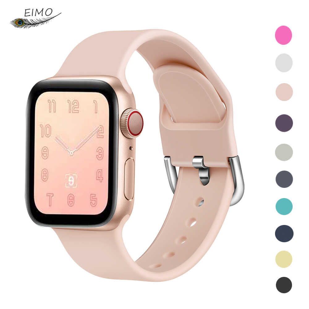 Silicone watchband strap for apple watch 4 bands 44mm/40mm correa apple watch 38 mm iwatch band 42mm correa bracelet pulseira 42