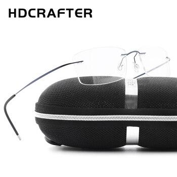 Hdcrafter 브랜드 디자이너 여성 unisex 티타늄 무테 안경 프레임 근시 광학 프레임 망 티타늄 frameless 안경