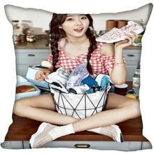 Заказ Kpop Ким Saeron печатных квадратный шелк наволочки 40x40 см, 35x35 см одна сторона атласная Наволочка логотип