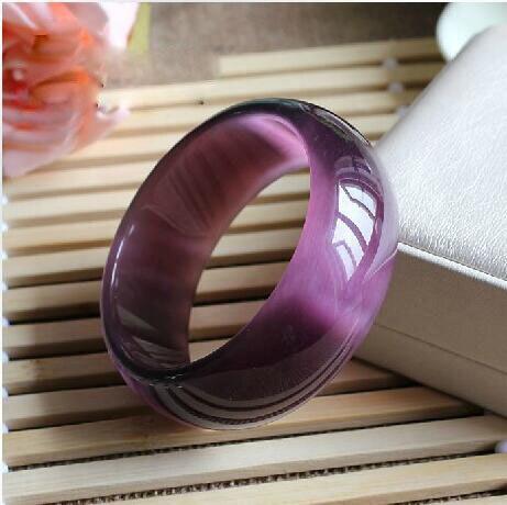 Bracelet en œil de chat violet fait main naturel pour femmes bracelet amulette bijoux bracelets/