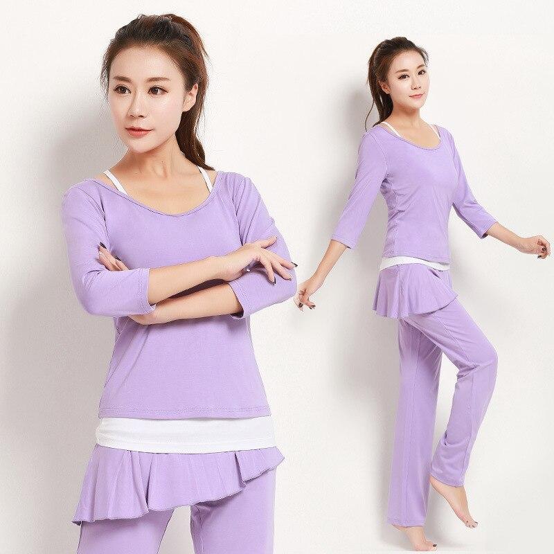Pour le sport costume la nouvelle hiver à manches longues en trois costumes montrent mince modal gym uniformes