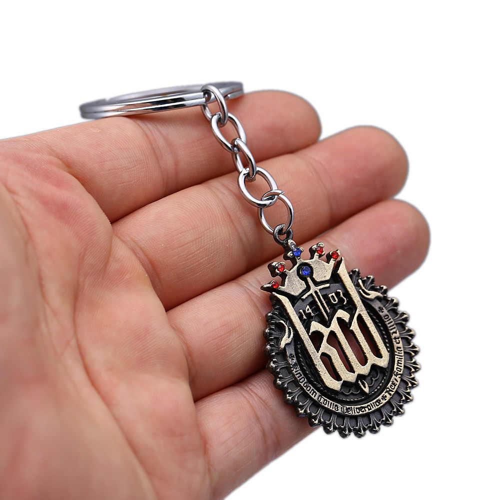 لعبة المجوهرات المفاتيح المملكة تأتي النجاة حلقة رئيسية حامل المعادن المعلقات llaveros النساء أزياء الرجال مجوهرات المشجعين تذكارية
