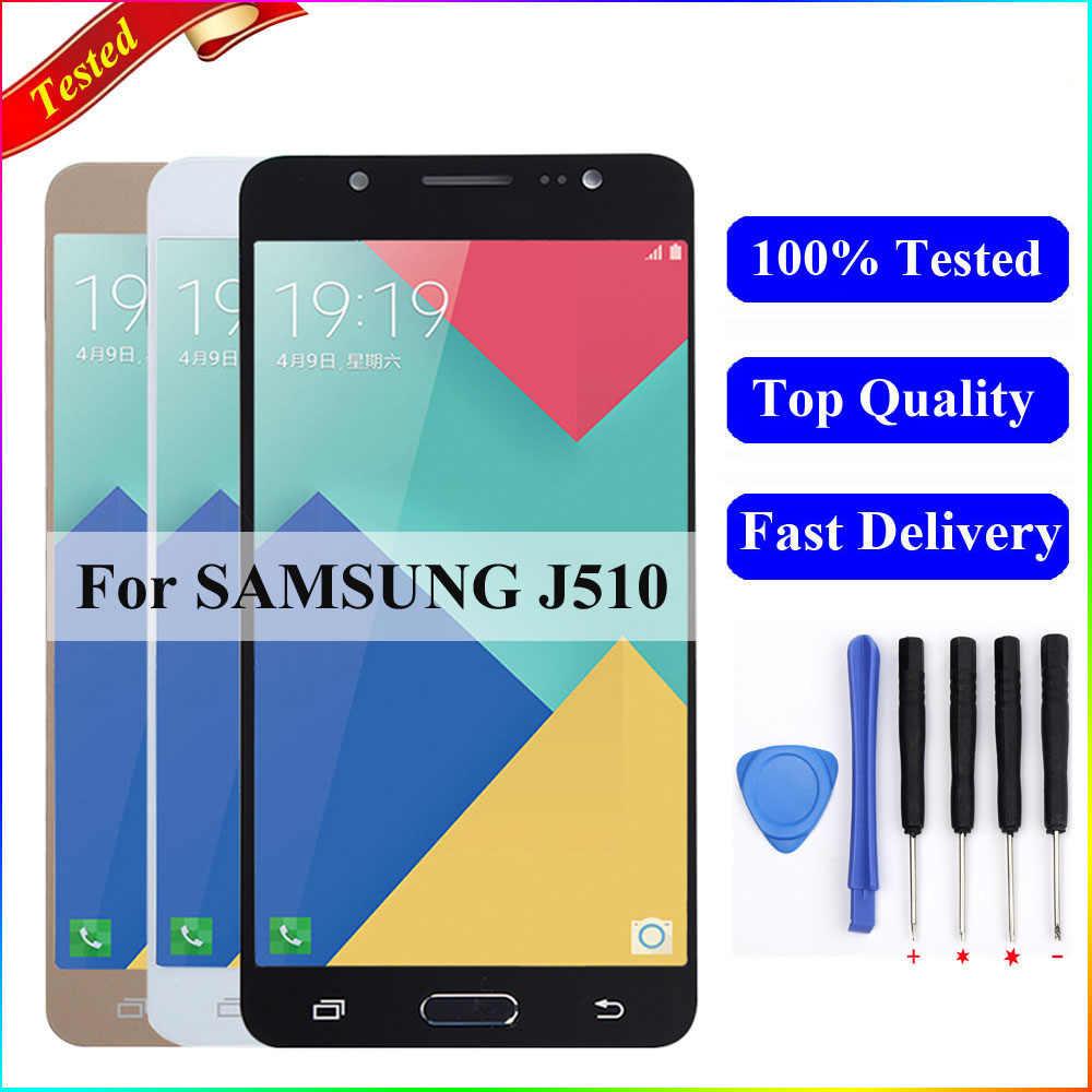 J510f شاشات lcd لسامسونج J5 2016 عرض J510F J510M J510FN شاشة إل سي دي باللمس شاشة مجموعة رقمية لسامسونج J5 2016 عرض