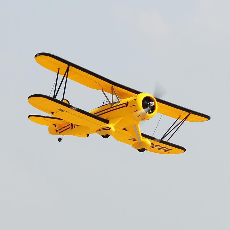 Dynam waco yellow 1270mm 50inch wingspan rc warbird pnp - купить