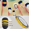1Roll 0.8mm Nail Striping Tape Line DIY Nail Art Adhesive Decal Nail Decoration Styling Tool