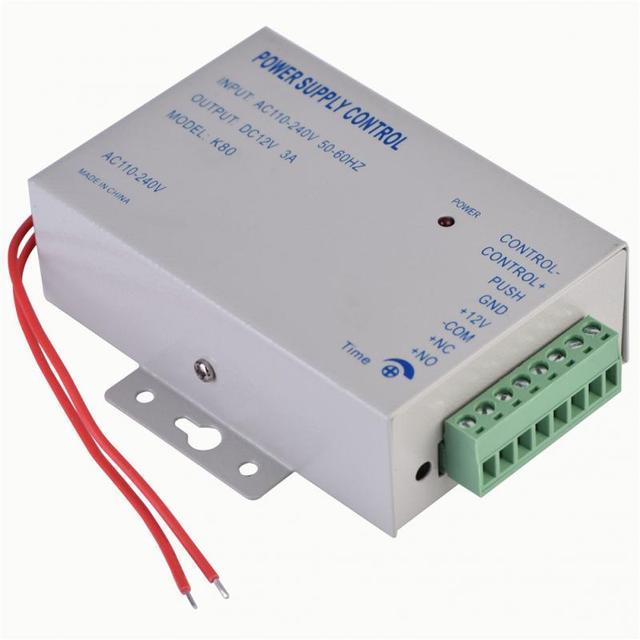 入力 AC 110 ボルト 240 ボルト出力 DC 12 ボルト 3A 30 ワット電源コントローラドアアクセス制御システムツール