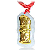 RADHORSE Pendant pure gold Fine Jewelry Jade Gold Bamboo Modeling Fine Craftsmanship pure gold Pendants Gold content 0.2g