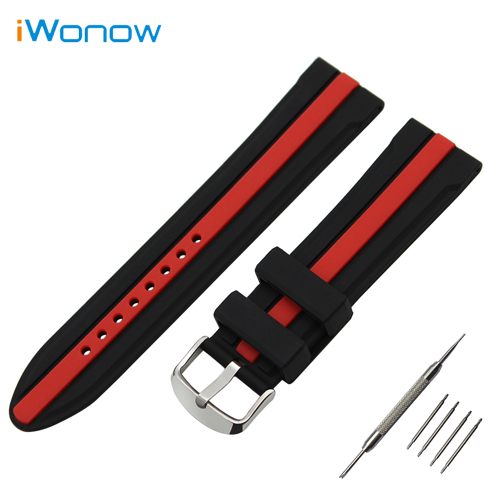 Silicone Rubber Watch Band 19mm 20mm 21mm 22mm for Seiko Stainless Steel Buckle Strap Wrist Belt Bracelet + Spring Bar + Tool high quality chrome billet aluminum spike air cleaner kit intake filter for 2002 2009 honda vtx 1800 r s c n f