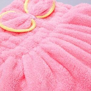 Image 5 - Per il Bagno In Microfibra Asciugatura Dei Capelli Ad Asciugatura Rapida Dei Capelli Del Cappello Turbante Bath Spa Bowknot Wrap Asciugamano Addensare Doccia Cappello Cap Testa Wrap cappello