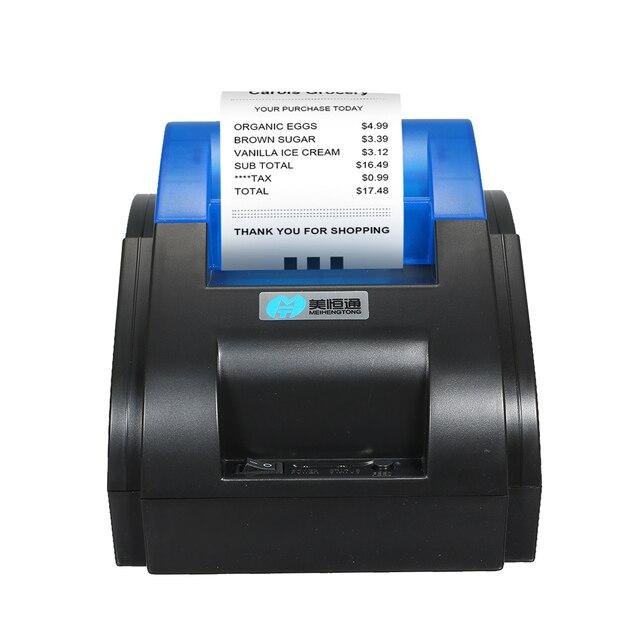 Impresora de código de barras impresora de alta calidad BT Etiqueta de código Qr código de barras etiqueta adhesiva térmica impresora de etiquetas 58mm Impresión de etiquetas
