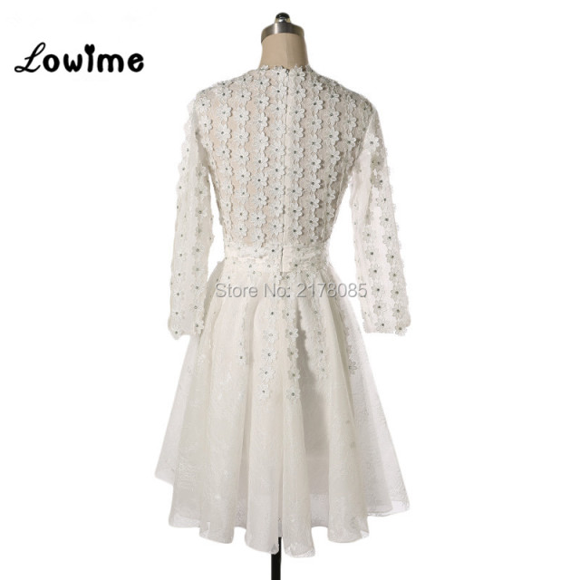 Ivory Cocktail Dresses Robe Cocktail Vestidos De Coctel Short Party Gown Real Image Rhinestone Short Dress Vestido Curto 2018 1