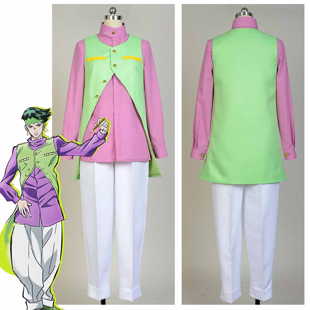 Jo JoJo's Bizarre Adventure Diamond Is Unbreakable Rohan Kishibe Cosplay Costume