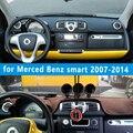 Dashmats автомобиля - стайлинг приборная панель для мерсед смарт Fortwo Cabrio W4541 2007 2008 2010 2011 2012 2013 2014