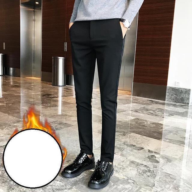 De Homme Persewaan Formal Pantalon Vestir Hombre Gaun Semi Hiver Musim Dingin Stretch Slim Fit Rok Largas Celana Celana Slim Trousers Slim Trousers Menpants Slim Aliexpress