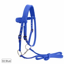Adjustable Soft Horse Riding Equipment Halter Horse Bridle With Bit and Fixed Rein Belt For Horse Equestrian Accessories #279731